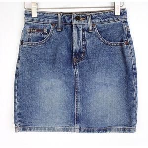 VTG L.E.I. High Waist Denim Pencil Mini Skirt